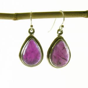 Boucles d'oreille quartz pierre