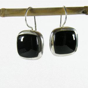 Boucles d'oreille Onyx