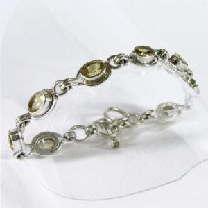 Bracelet Citrine pierre fine taillée