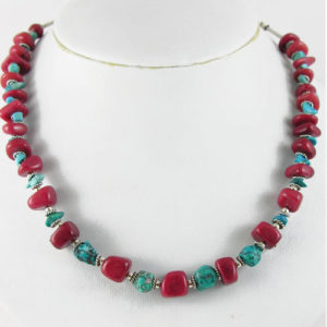 Collier Jaspe turquoise