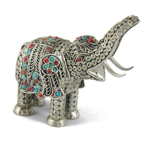 Eléphant en argent