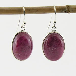 Boucles Rhodonite dormeuse