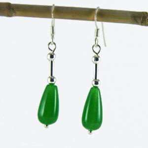 Boucles Oreille Quartz vert