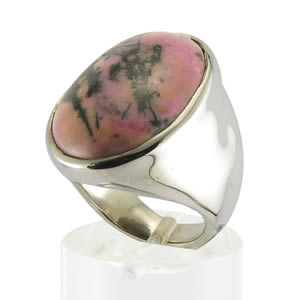 Grosse bague  rhodonite