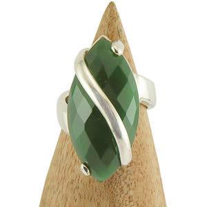 Bague pierre Agate verte