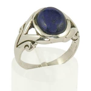 Bague homme Lapis Lazuli bleu Roi