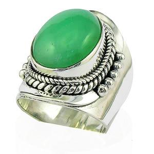 Bague Chrysoprase bijoux Rajasthan