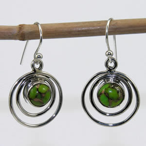 Boucles Green Turquoise Mohave