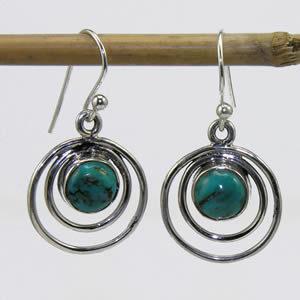 Boucles argent Turquoise