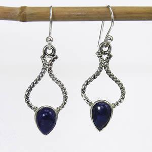 Lapis Lazuli boucles pendantes