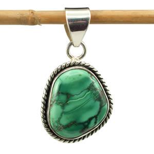 Pendentif Turquoise verte