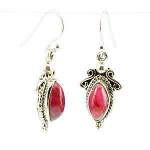Boucles Quartz rouge