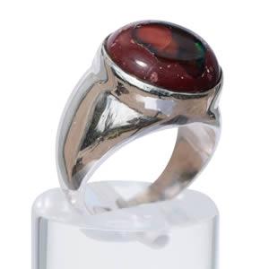 Opale de feu bague