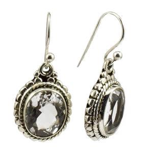 Boucles pendantes Cristal