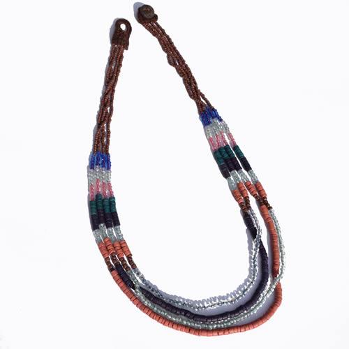 Collier sautoir perles ethnique