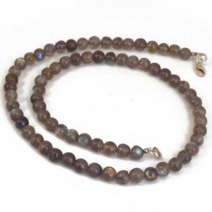 Labradorite perles rondes collier