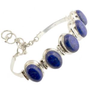 Bracelet Lapis lazuli argent