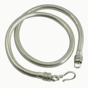 Gros collier snake argent 925 épaisseur 5 mm