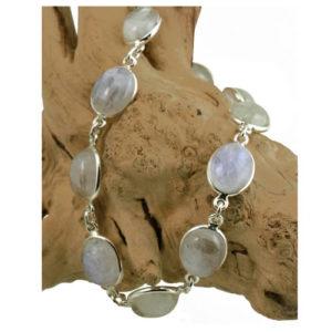 Bracelet argent femme pierre de lune