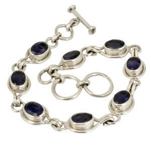 Bracelet argent pierres fines