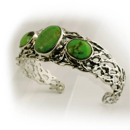 Bracelet design green turquoise