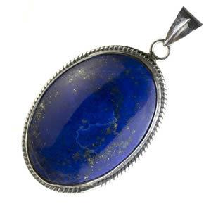 Pendentif argent massif 925 avec magnifique Lapis lazuli.