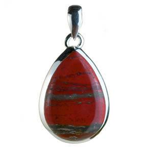Pendentif rouge jaspe
