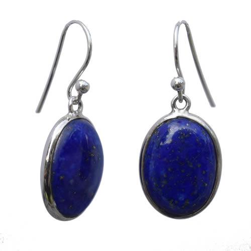 Boucles Lapis Lazuli argent dormeuses