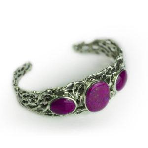 Bracelet pourpre violet fuschia