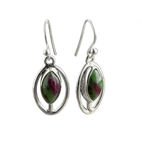 Boucles Rubis Zoisite