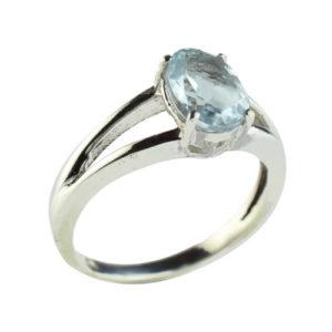 Bague pierre fine bleue