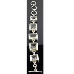 Bracelet Cristal de roche Quartz femme