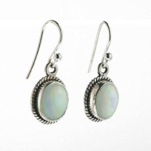 Boucles Opales blanches et irisées