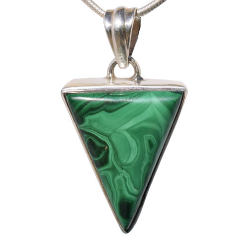 Pendentif Malachite triangle