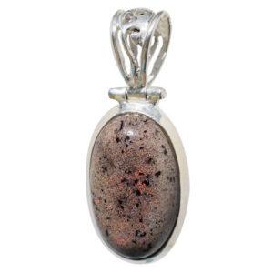 Pendentif Opale noble noire