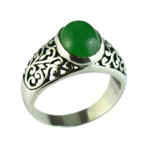 Bague pierre verte homme
