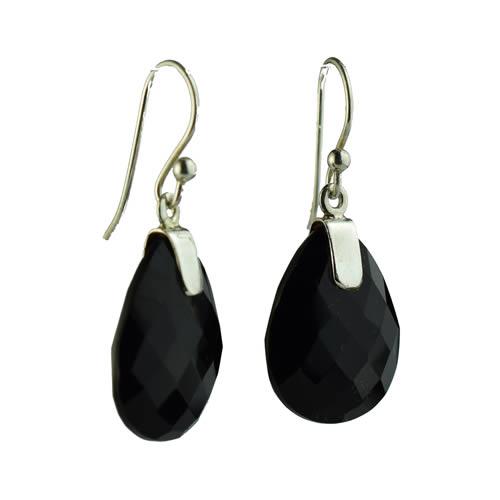 Boucles d'oreille noires pendantes