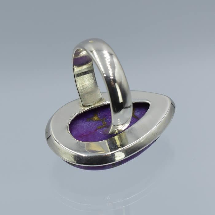 bague argent pierre violette