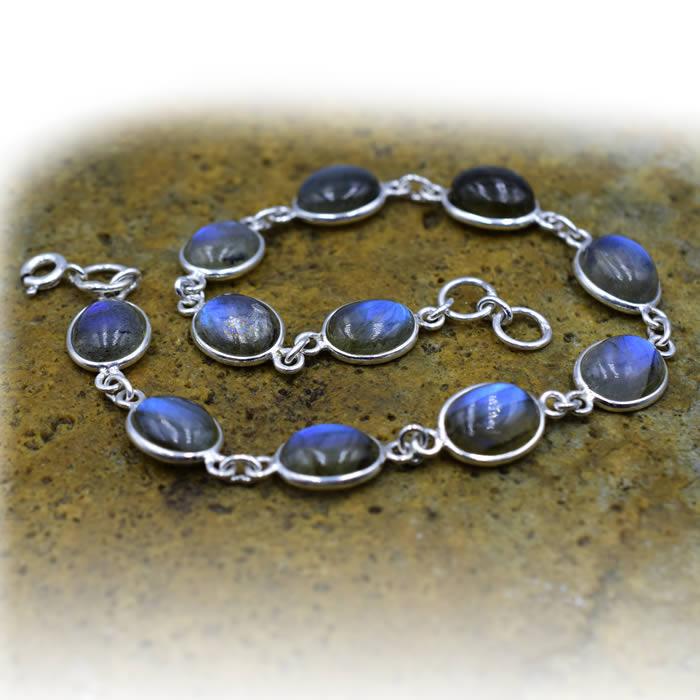 Bracelet de pierres Labradorites