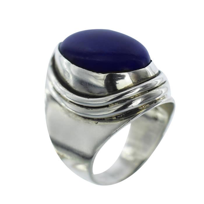 Lapis Lazuli pierre bleu nuit bague