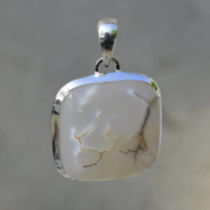 snakeskin agate blanche