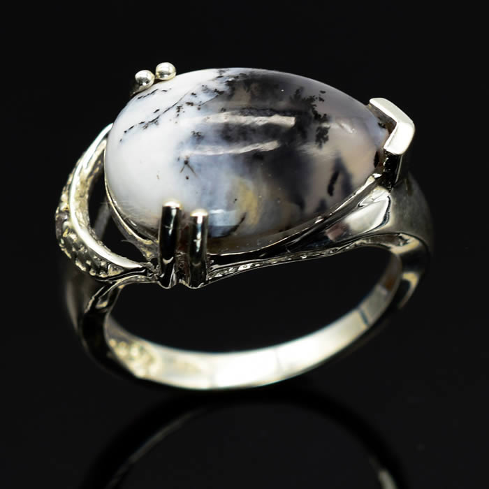 Bague Agate Merlinite