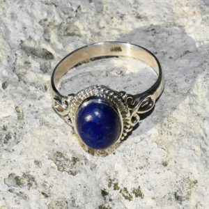 Petite bague indienne lapis lazuli