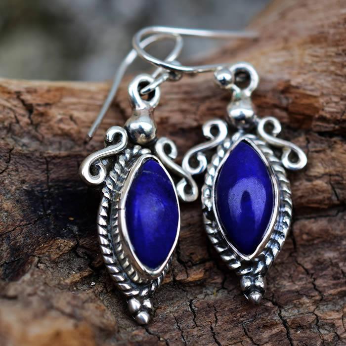 Lapis lazuli boucles d'oreille
