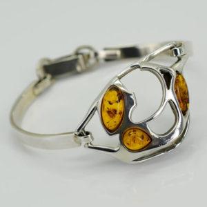 Bracelet ambre jaune design moderne