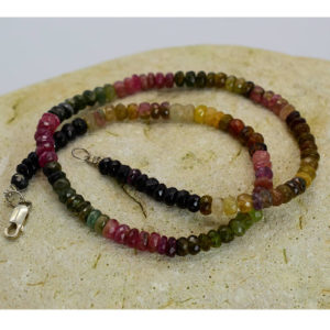 Collier Tourmaline multicolore