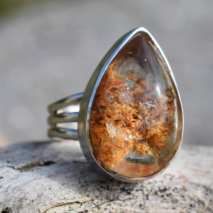 Pierre Rare Quartz Lodolite inclusions