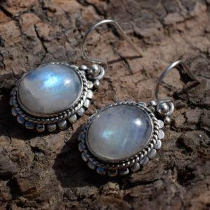 Boucles d'oreille argent pierre de lune