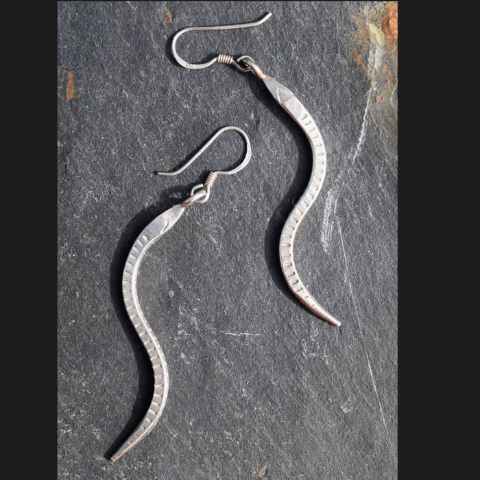 Serpent bijou boucles oreille argent
