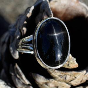 Pierre noire étoilée semi précieuse inde